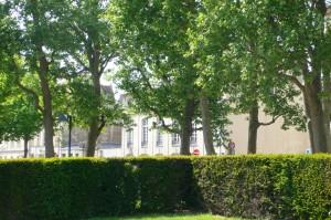 Les appartements Villa République vus depuis la Place.